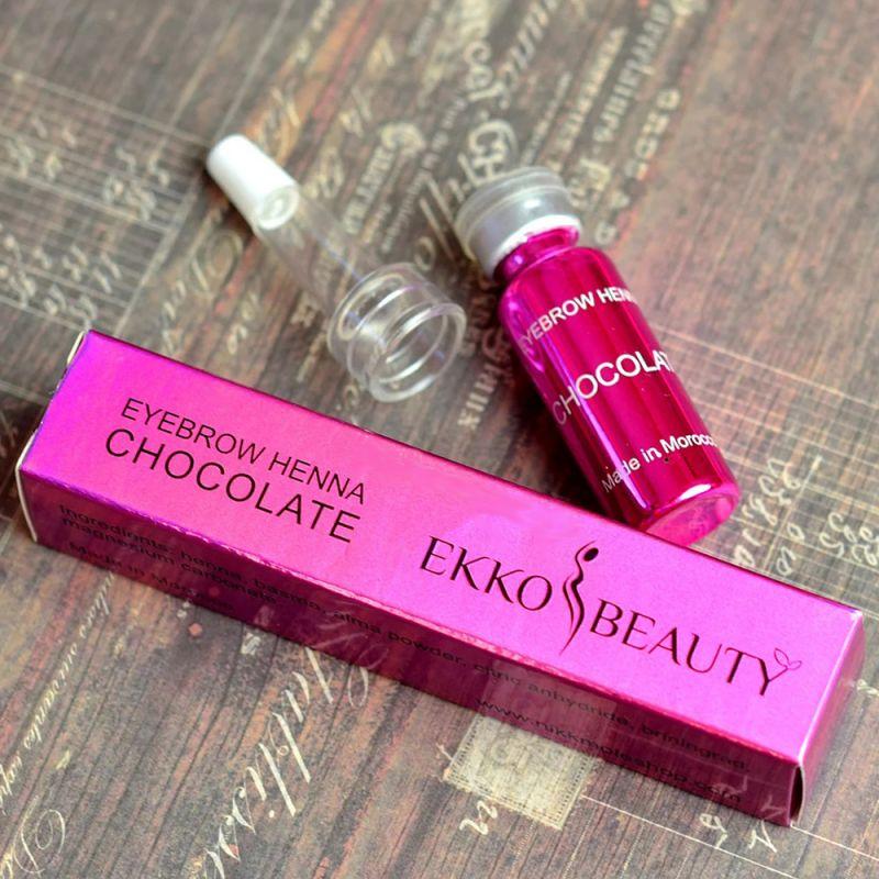 Хна для окрашивания бровей Ekkobeauty Henna Chocolate (молочный шоколад) 7 г
