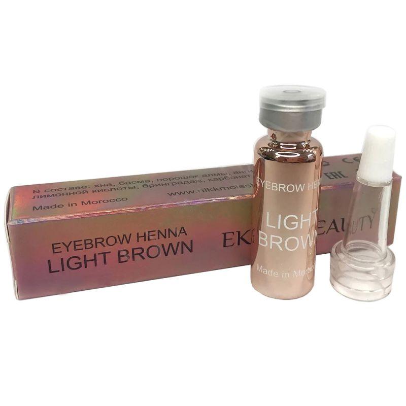 Хна для окрашивания бровей Ekkobeauty Henna Light Brown (светло-коричневый) 7 г