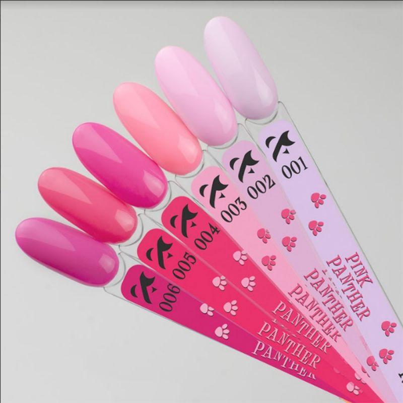 Гель-лак F.O.X Pink Panther №006 (теплый розовый, эмаль) 7 мл