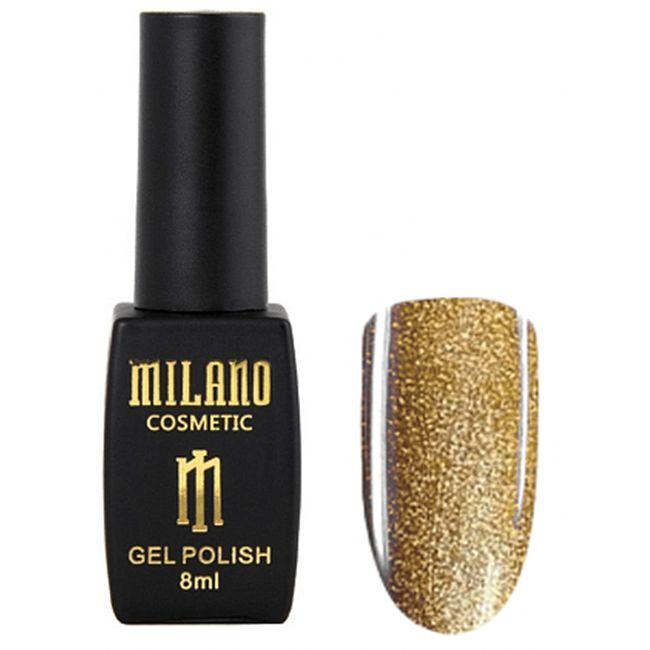 Гель-лак Milano Effulgence Cat Eyes 24D №002 (светлый золотой, светоотражающий кошачий глаз) 8 мл
