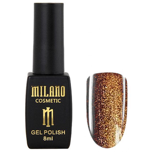 Гель-лак Milano Effulgence Cat Eyes 24D №003 (золотой, светоотражающий кошачий глаз) 8 мл