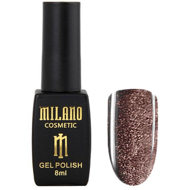 Гель-лак Milano Effulgence Cat Eyes 24D №006 (темный золотой, светоотражающий кошачий глаз) 8 мл