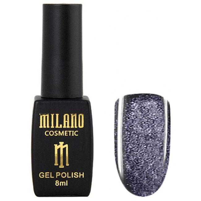 Гель-лак Milano Effulgence Cat Eyes 24D №007 (фиолетовый, светоотражающий кошачий глаз) 8 мл