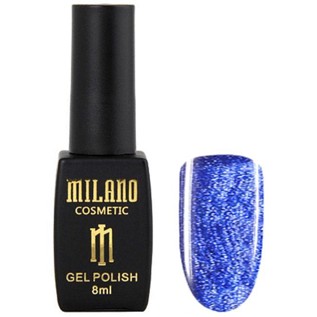 Гель-лак Milano Effulgence Cat Eyes 24D №008 (синий, светоотражающий кошачий глаз) 8 мл