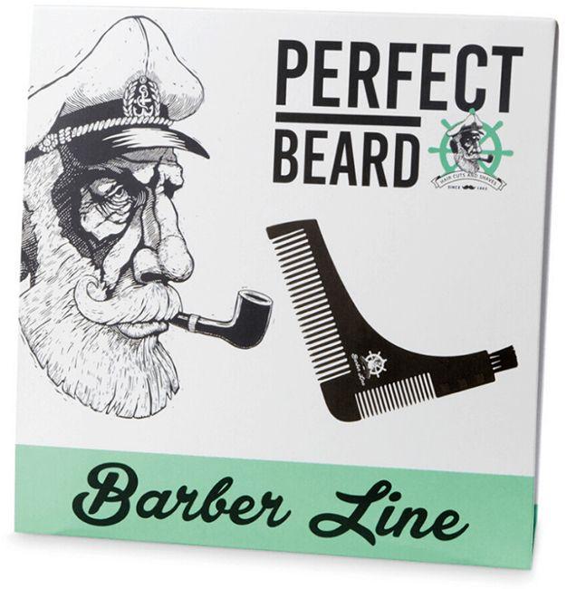 Гребень для бороды EuroStil Barber 06176 Трафарет