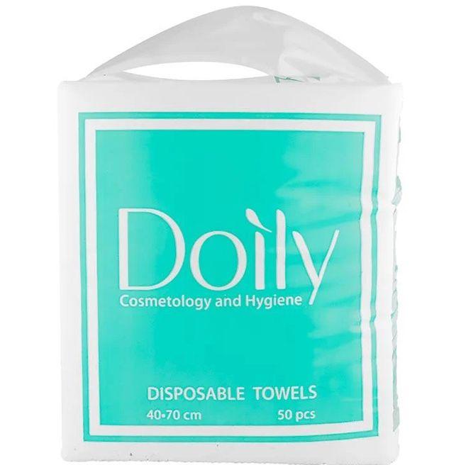 Полотенца одноразовые Doily Compact 40х70 см 50г/м2 (спанлейс, сетка) 50 штук
