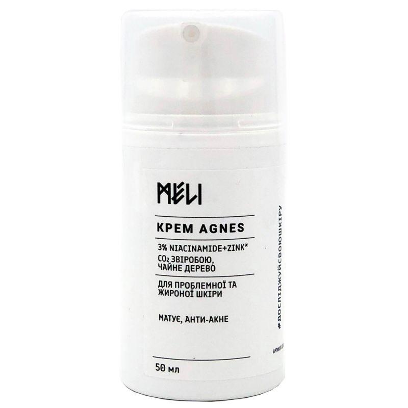 Крем для жирной кожи Meli Agnes Ниацинамид и цинк 50 мл