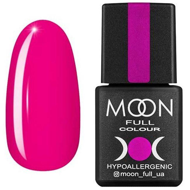 Гель-лак Moon Full Color №122* (яркий розово-малиновый, эмаль) 8 мл