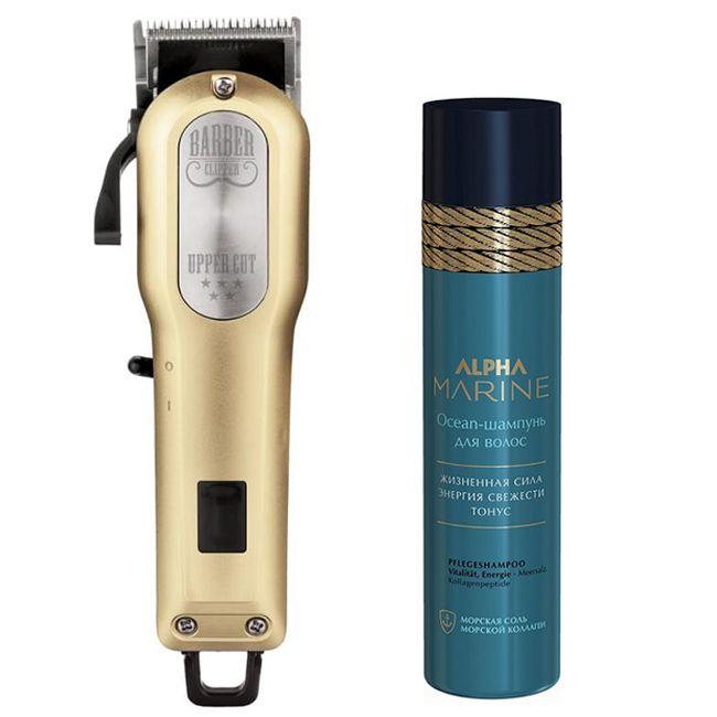Набор для него Tico Barber Upper Cut 5 Gold + Estel Professional Alpha Marine Ocean Shampoo 250 мл