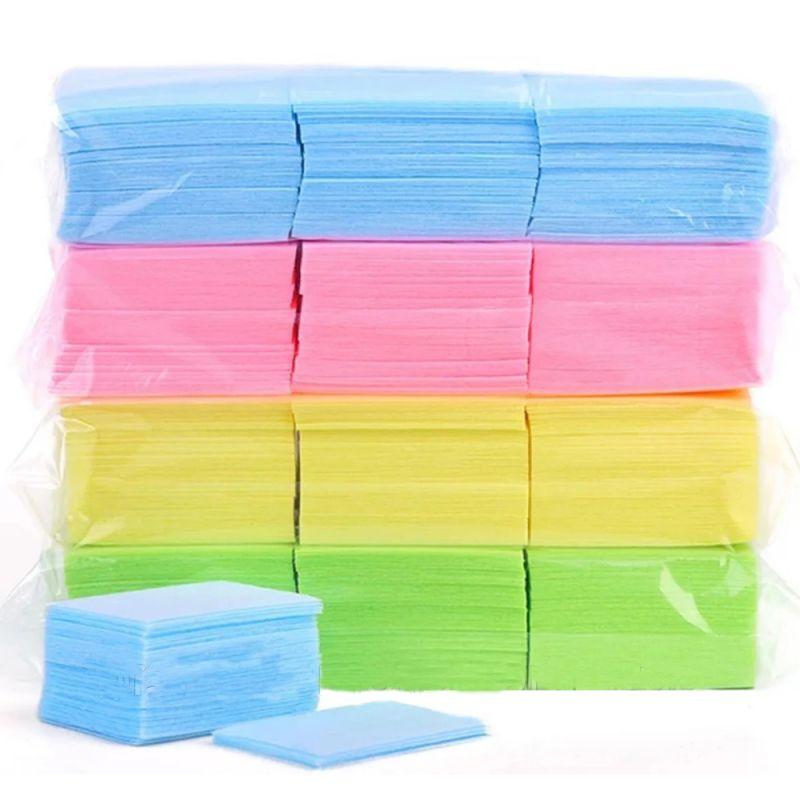 Салфетки безворсовые Starlet Professional Nail Dray Pads 6х4 см (спанлейс, цветные)