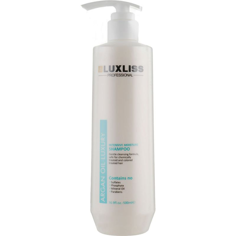 Шампунь для волос увлажняющий Luxliss Argan Oil Shampoo 500 мл