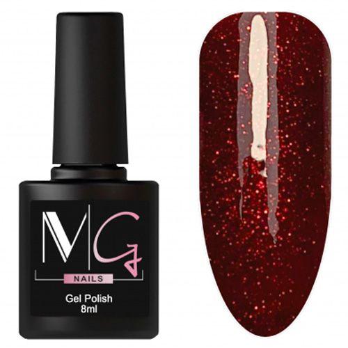 Гель-лак MG №167 (темно-красный с блестками) 8 мл