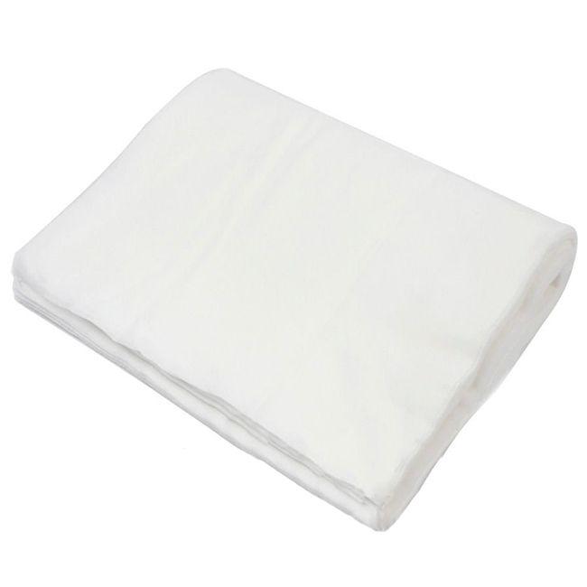 Полотенца одноразовые Panni Mlada 35х40см 40г/м2 (гладкие, белый) 50 штук