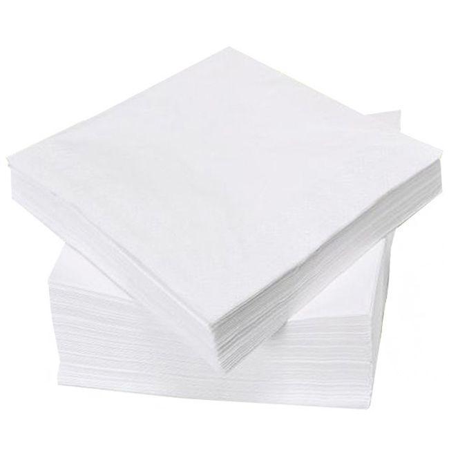 Салфетки одноразовые безворсовые Panni Mlada 6х6 см (спанлейс, белый) 100 штук