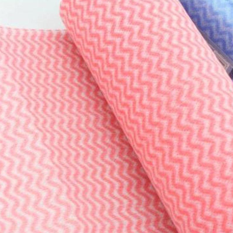 Полотенца одноразовые в рулоне Panni Mlada 25х30 см 50 г/м2 (спанлейс, сетка, розовая волна) 100 штук
