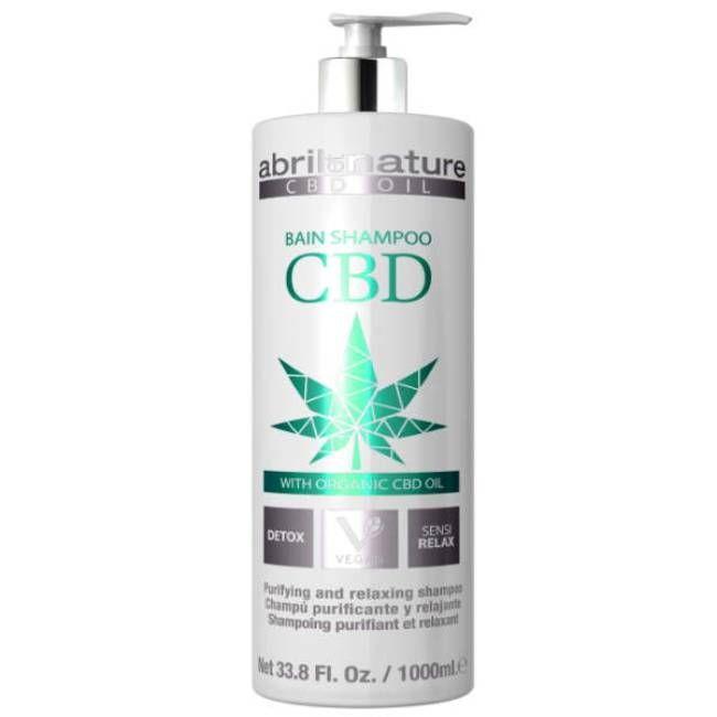 Шампунь-детокс Abril et Nature CBD Cannabis Oil Shampoo (с конопляным маслом) 1000 мл