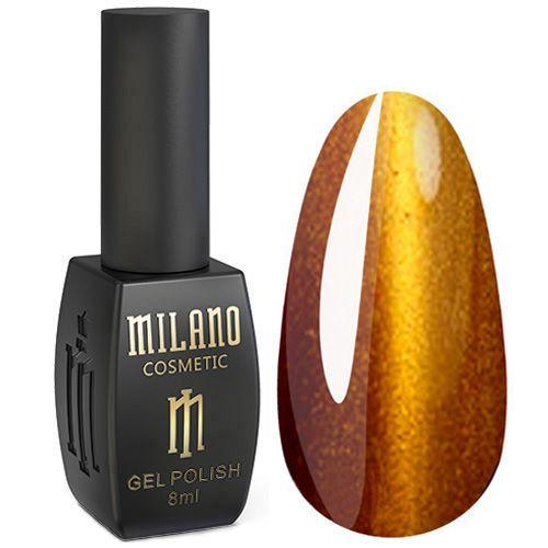 Гель-лак Milano 24D №019 (желтое-золото, кошачий глаз) 8 мл