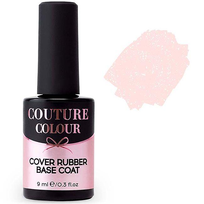 База для гель-лака камуфлирующая каучуковая Couture Colour Cover Rubber Base №08 (бежевый с шиммером) 9 мл