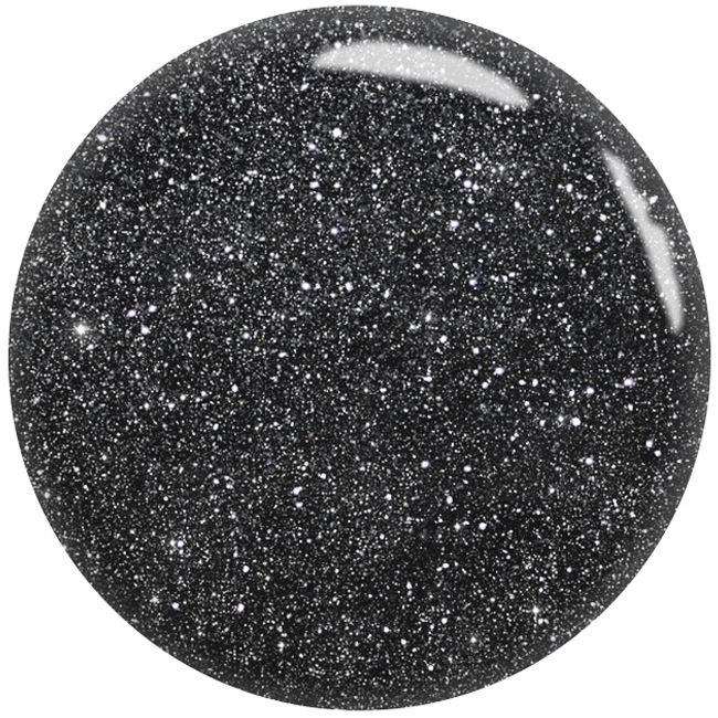 Гель-лак GO Active Always Sparkle №15 (темно-серый с серебристыми блестками и шиммером) 10 мл
