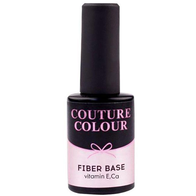 База для гель-лака Couture Colour Revital Fiber Base Shimmer Pink (мерцающий розовый) 9 мл
