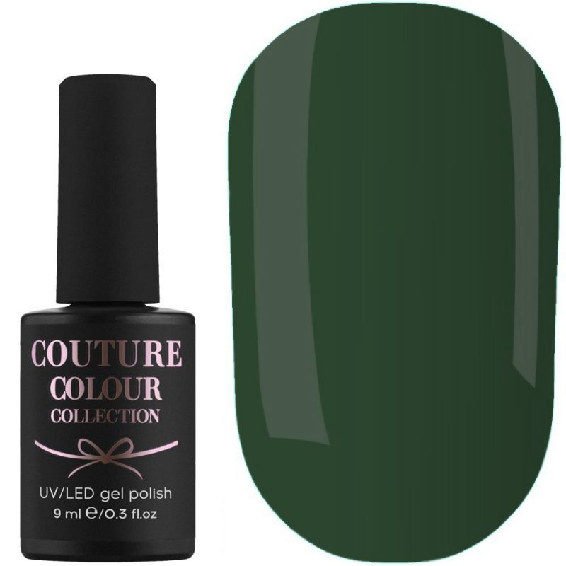 Гель-лак Couture Colour №159 (темно-зеленый, эмаль) 9 мл