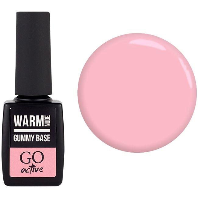 База для гель-лака камуфлирующая GO Active Gummy Base Peony Camouflage №8 (розовый пион) 10 мл