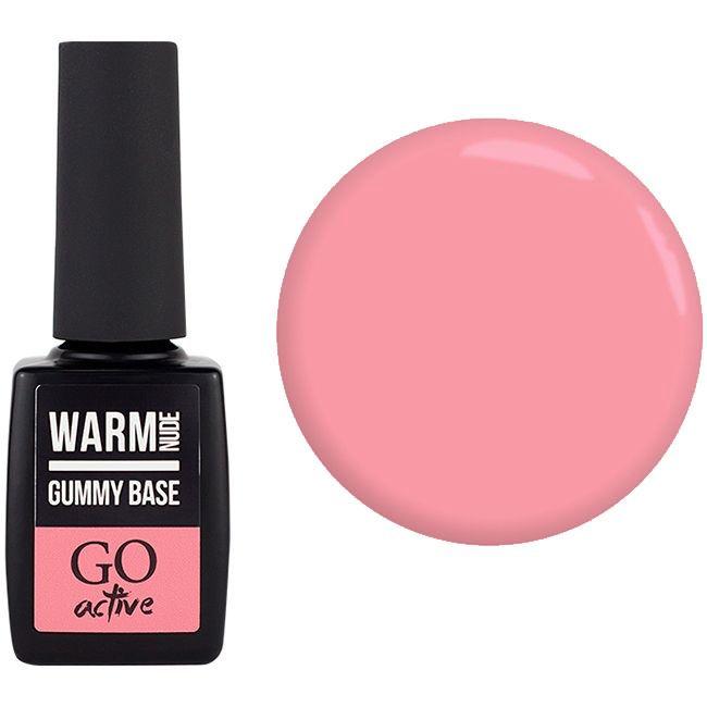 База для гель-лака камуфлирующая GO Active Gummy Base Nude Rose Camouflage №9 (нюдово-розовый) 10 мл