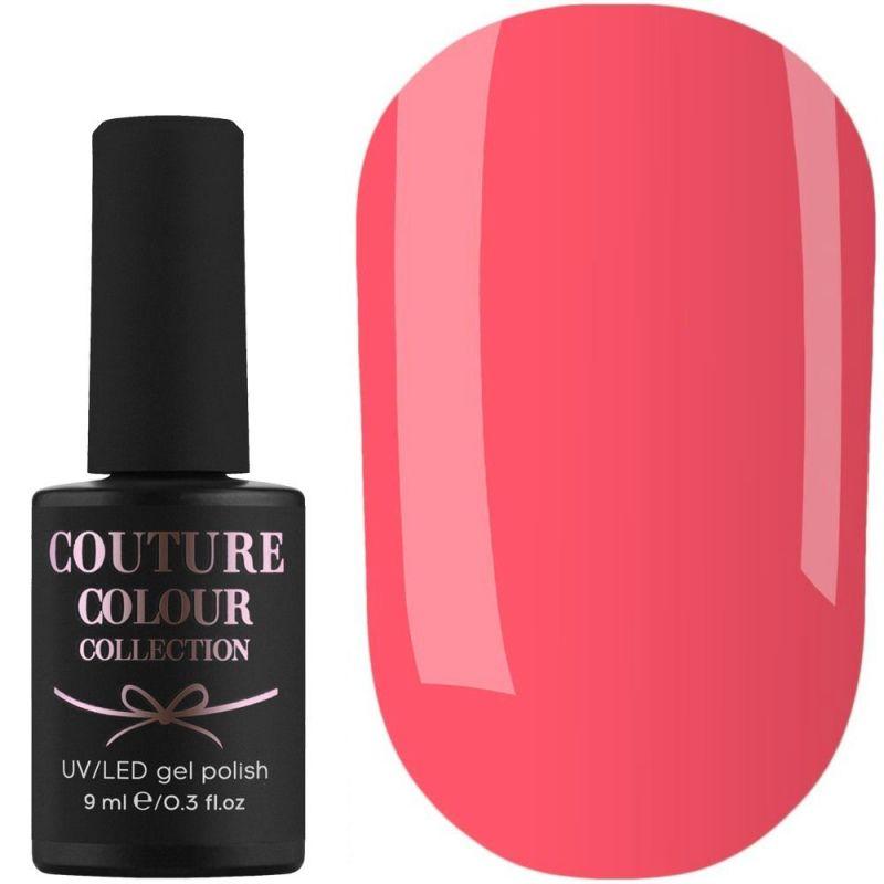 Гель-лак Couture Colour №161 (яркий кораллово-розовый, эмаль) 9 мл