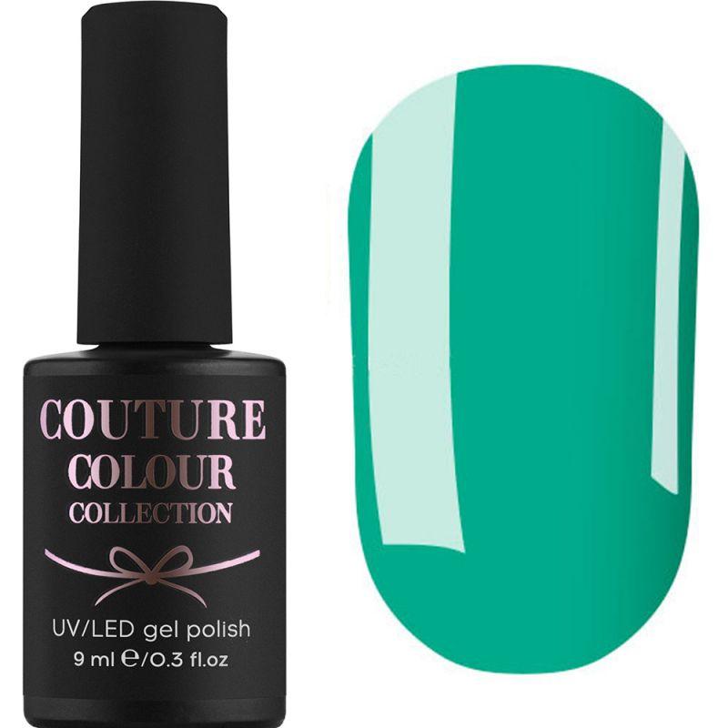 Гель-лак Couture Colour №166 (лазурно-зеленый, эмаль) 9 мл