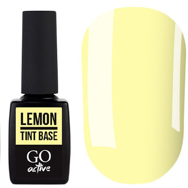 База для гель-лака Go Active Tint Base Lemon №01 (желтый) 10 мл