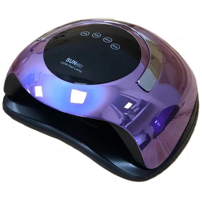 Лампа для маникюра SUN BQ-5T LED-UV Mirror Violet 120 Вт