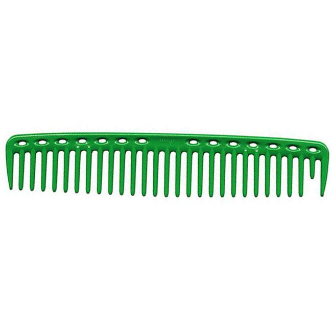 Расческа для стрижки Y.S. Park YS-452 Big Hearted Combs Green