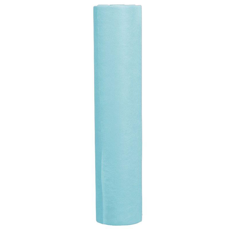 Простыни одноразовые в рулоне Рожева Бiлявка 0.8х100 м 17г/м2 (спанбонд, голубой)