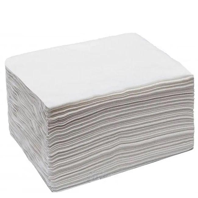 Полотенца одноразовые Рожева Білявка 35х70 см (спанбонд, гладкие, белые) 100 штук
