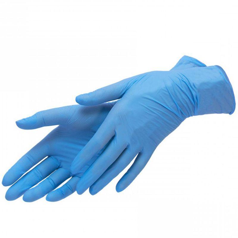 Перчатки нитриловые без пудры Sanliu Medical Blue S 66 штук