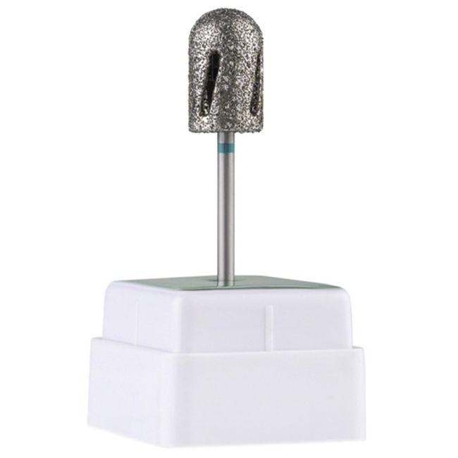 Насадка алмазная для педикюра Twister 488010 (диаметр 10 мм, зеленая)