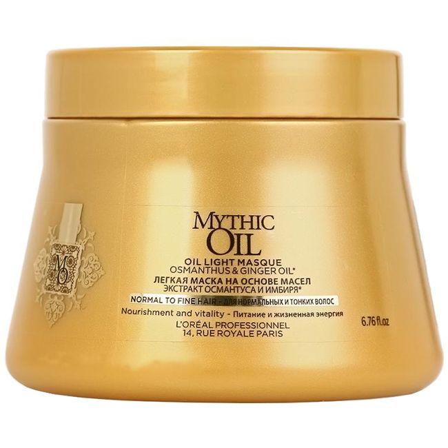 Питательная маска для нормальных и тонких волос L'Oreal Professionnel Mythic Oil Mask 200 мл