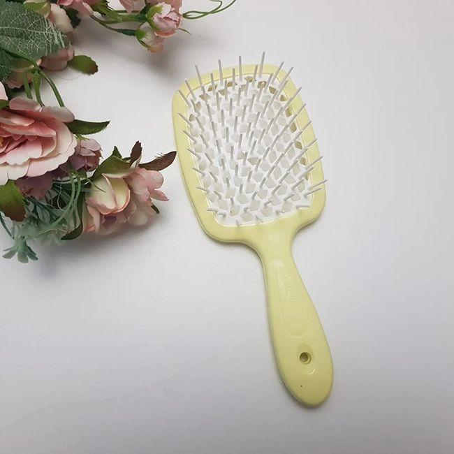 Расческа для волос Janeke 1830 Superbrush The Original Italian Soft Yellow