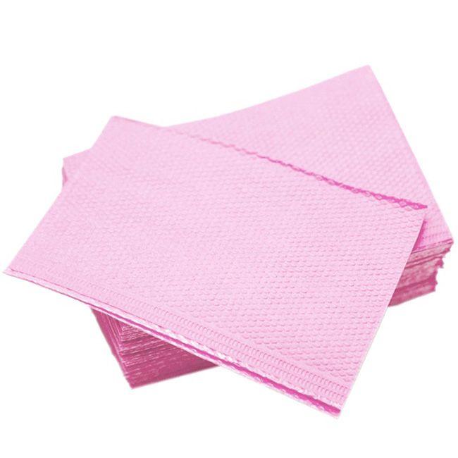 Салфетки стоматологические в упаковке Polix Pro&Med 3-х слойные 45х32 см (розовый) 25 штук