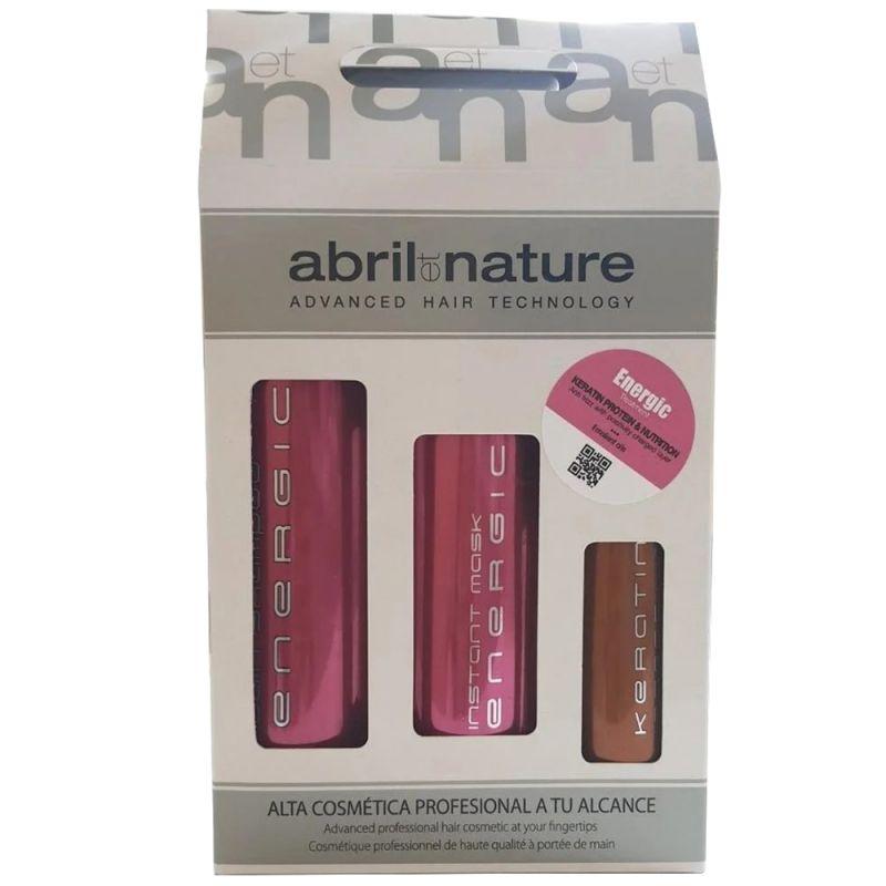 Набор для восстановления волос Abril Et Nature Energic Kit (шампунь 250 мл + маска 200 мл + сыворотка 100 мл)