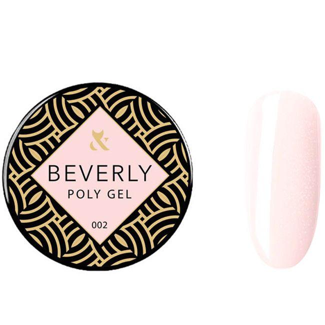 Моделирующий полигель F.O.X Poly Gel Beverly №002 (розово-персиковый с шиммером) 15 мл