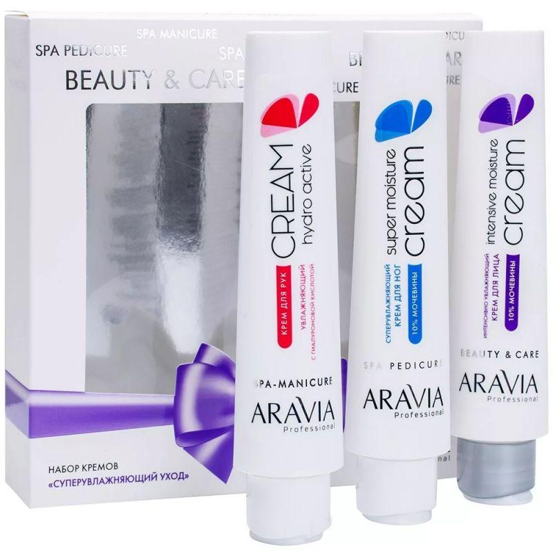 Набор кремов Aravia Суперувлажняющий уход (крем для лица 100 мл, крем для рук 100 мл, крем для ног 100 мл)