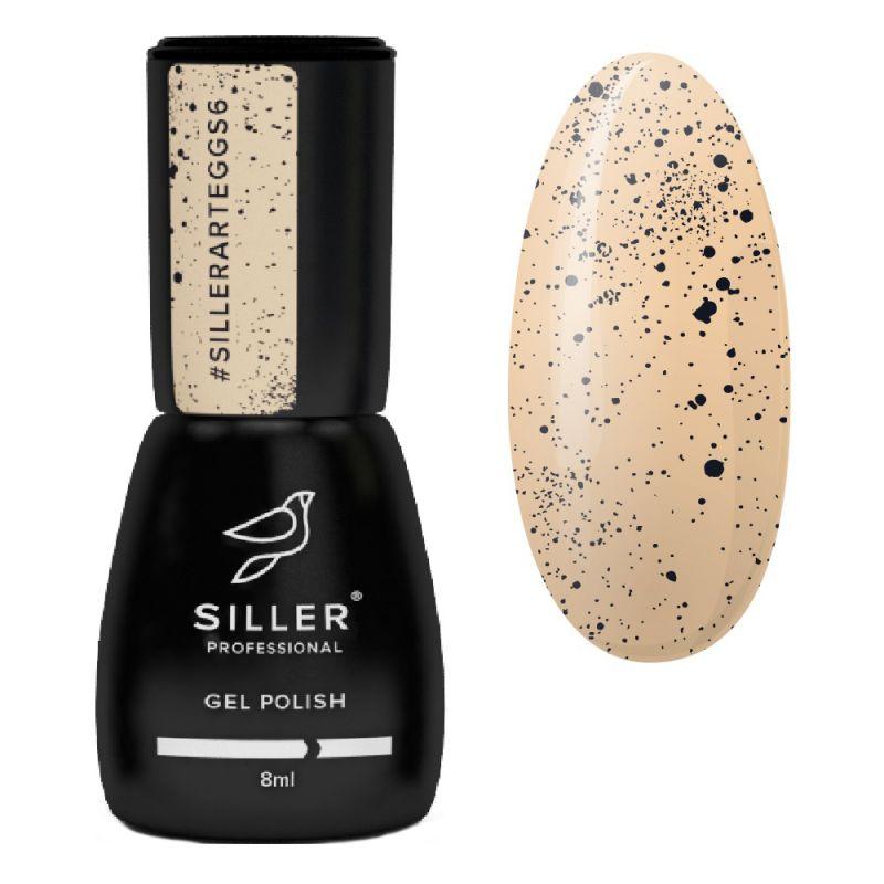Гель-лак Siller Art Eggs №006 (персиковый, эффект перепелиного яйца) 8 мл