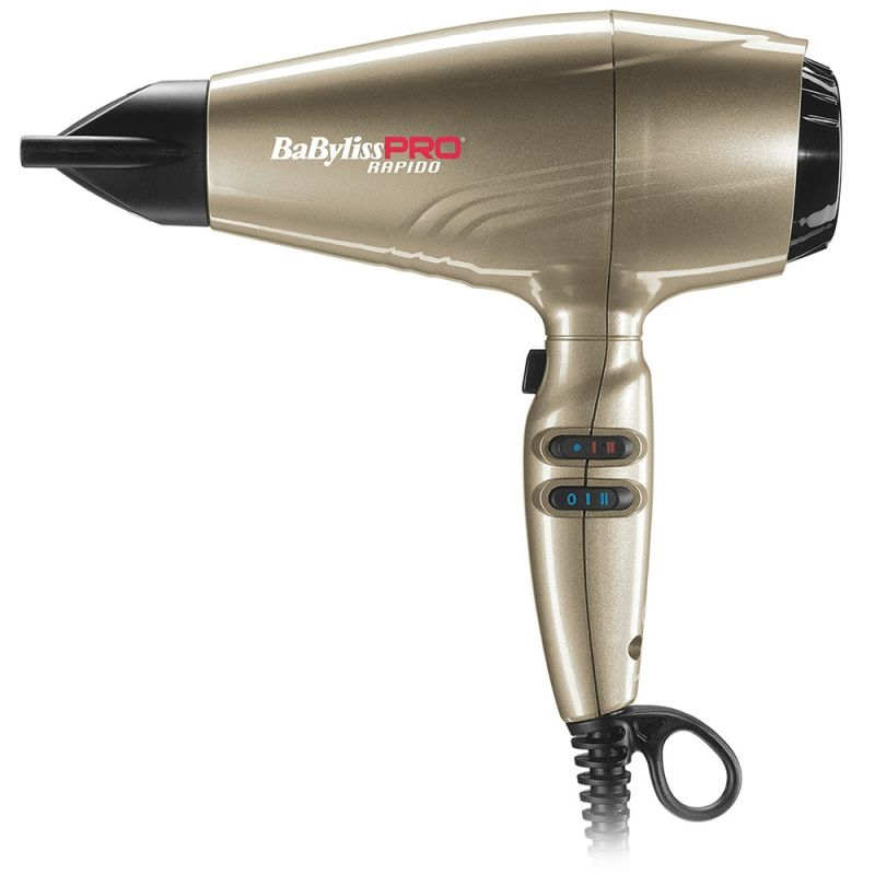 Фен для волос BaByliss PRO BAB7000IRGE Rapido Bronze