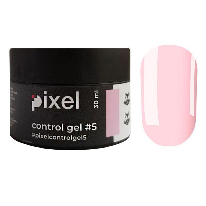 Строительный камуфлирующий гель Pixel UV/LED One Phase Builder Gel Cover №5 (светло-розовый) 30 мл
