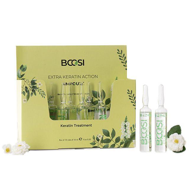 Ампулы для восстановления волос Kleral System Bcosi Extra Keratin Action 10x10 мл