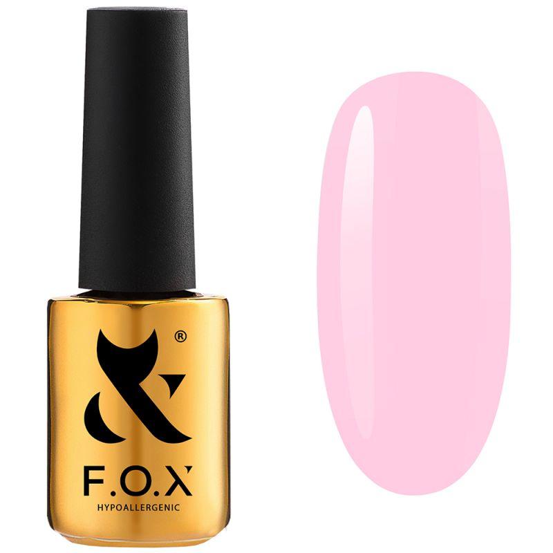 Гель-лак F.O.X Pink Panther №002 (нежно-розовый, эмаль) 7 мл