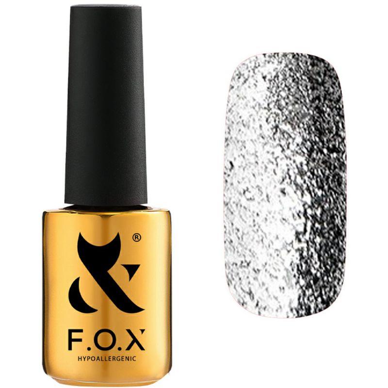 Гель-лак F.O.X Gel Polish Gold Brilliance №002 (серебряный с блестками) 7 мл