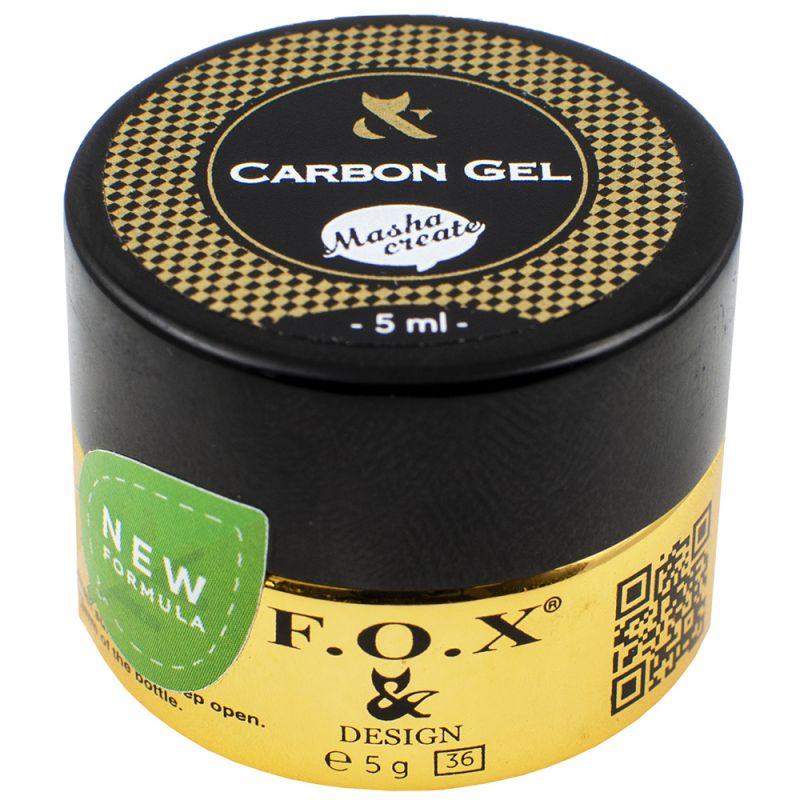 Гель для ремонта ногтевой пластины F.O.X Carbon Gel со сверхпрочными волокнами 5 мл