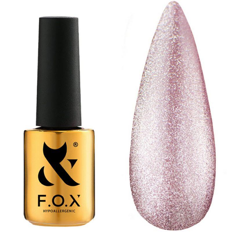 Гель-лак F.O.X Gel Polish Crystal Cat Eye №003 (полупрозрачный розовый, кошачий глаз) 7 мл